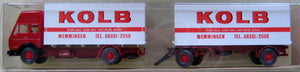 "WIKING # 459 - MB TRUCK WITH TRAILER ""KOLB"""