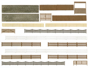 Busch 6017 - Fences, Walls and Gates - HO scale