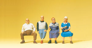 PREISER # 65351 - SEATED TRAVELERS - 1:45 SCALE FIGURES