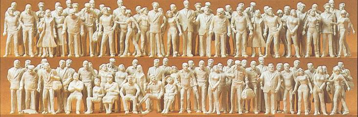 PREISER # 68290 - 1:50 SCALE UNPAINTED PLASTIC MODEL FIGURES