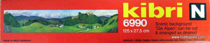 "KIBRI # 6990 - SCENIC BACKGROUND ""DIE ALPEN"" - Z and N Scale"