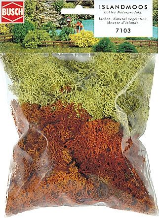 Busch 7103 -  Reindeer Moss/Lichen - 2 colours - Yellow and Brown