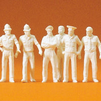 PREISER # 72513 - 1:72 SCALE UNPAINTED UNIFORMED PEOPLE