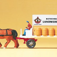 PREISER # 79478 - BEER WAGON - 1:160 SCALE