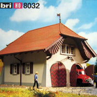 "KIBRI # 8032 ""GOLDBACH"" FIREHALL WITH FIRE TRUCK"