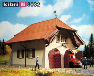 "KIBRI # 8032 ""GOLDBACH"" FIREHALL WITH FIRE TRUCK - HO Scale"