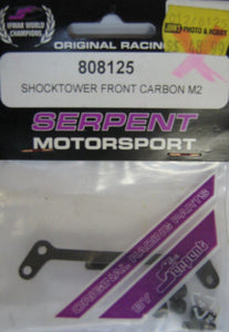 SERPENT # 808125 - SHOCKTOWER FRONT CARBON M2