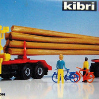 KIBRI # 10666 - LOG TRUCK WITH LOADING CRANE