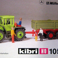 KIBRI # 10522 - FARM TRACTOR WITH TRAILER