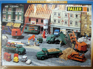 FALLER # 130984 - CONSTRUCTION SITE - EXCLUSIVE 2004