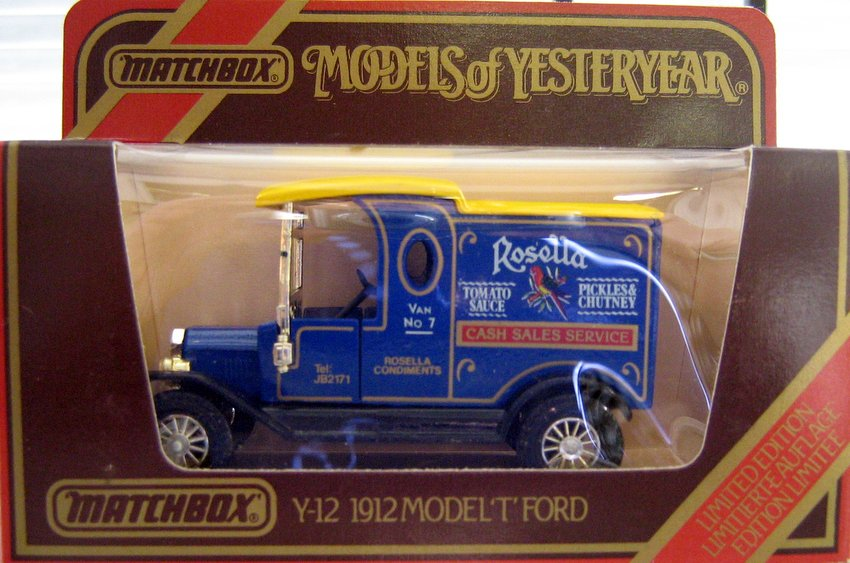 MATCHBOX MODELS OF YESTERYEAR Y-12 - 1912 MODEL 'T' FORD