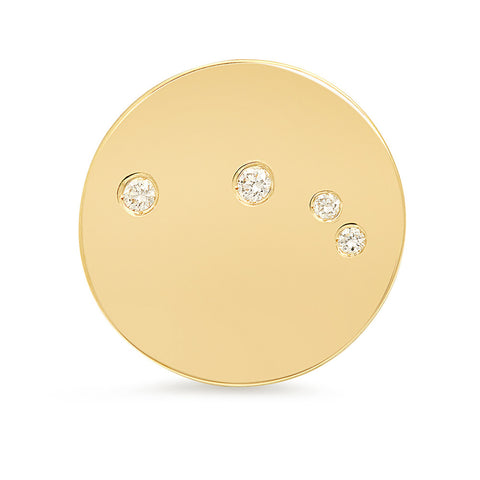 Aries Constellation Stud Earring