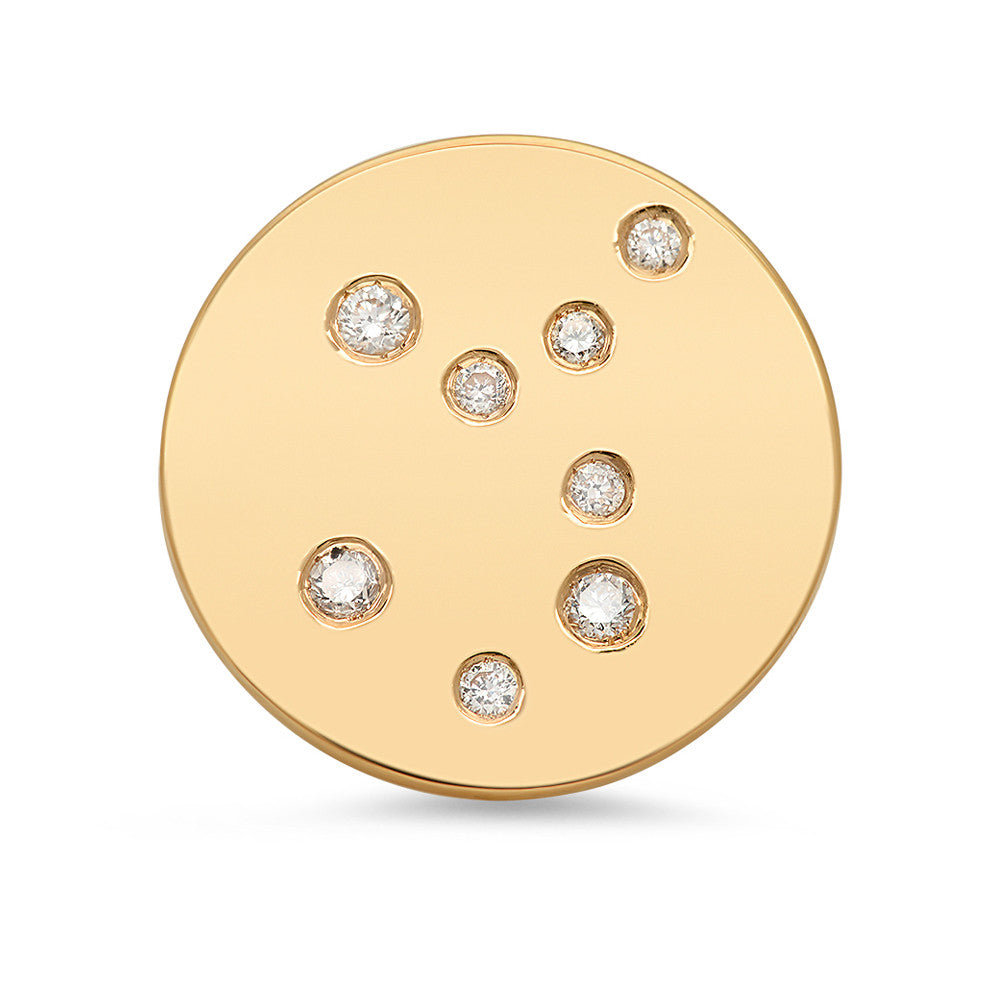 Virgo Constellation Stud Earring