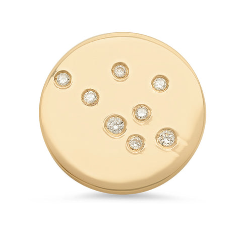 Aquarius Constellation Stud Earring
