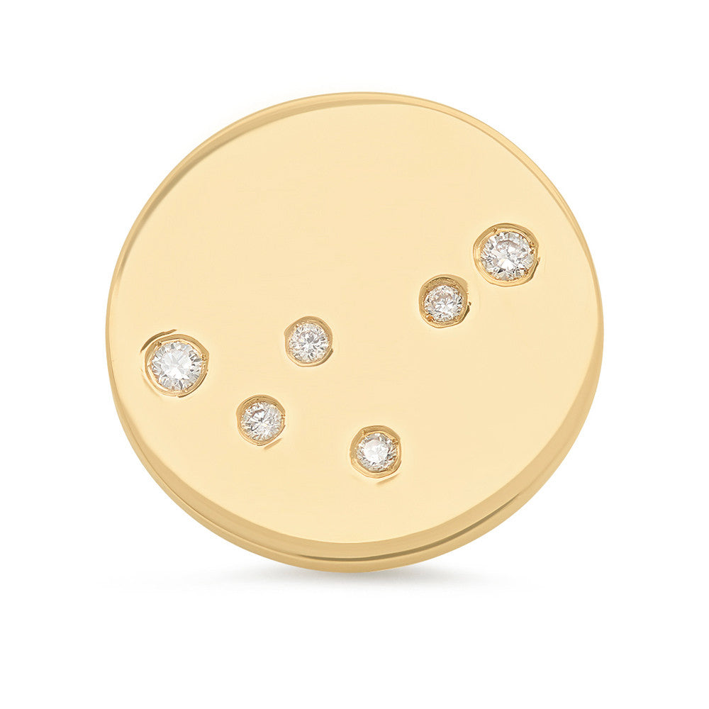 Capricorn Constellation Stud Earring