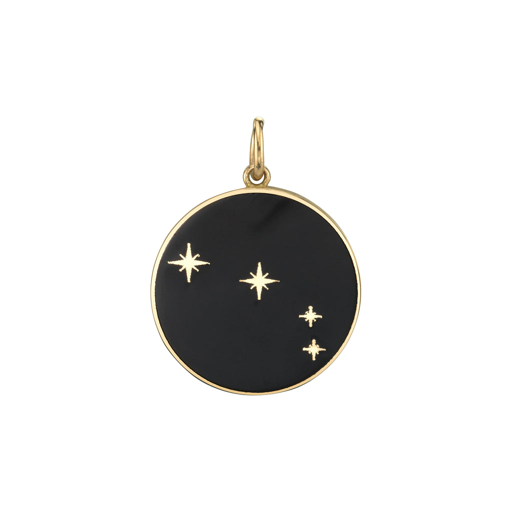 "5/8"" Champleve star constellation pendant, Pisces"