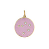 "5/8"" Champleve diamond constellation pendant, Libra"