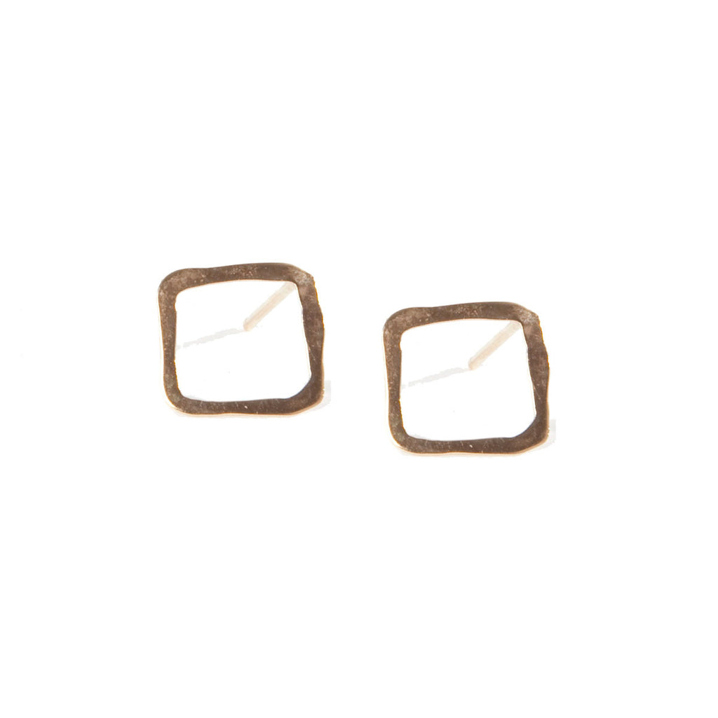Square Frame Stud Earrings