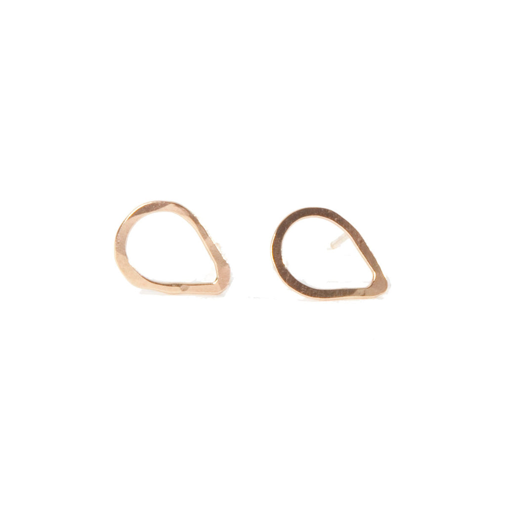 Teardrop Frame Stud Earrings