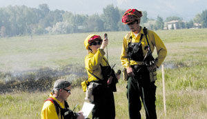 Wildland Firefighter Training with Kestrel 3500 Meter