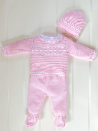 Lily Knitted Set Roze