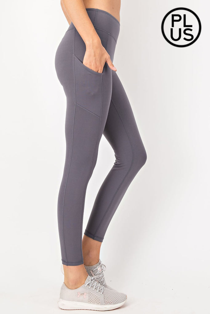 CHARCOAL LEGGINGS WITH POCKETS