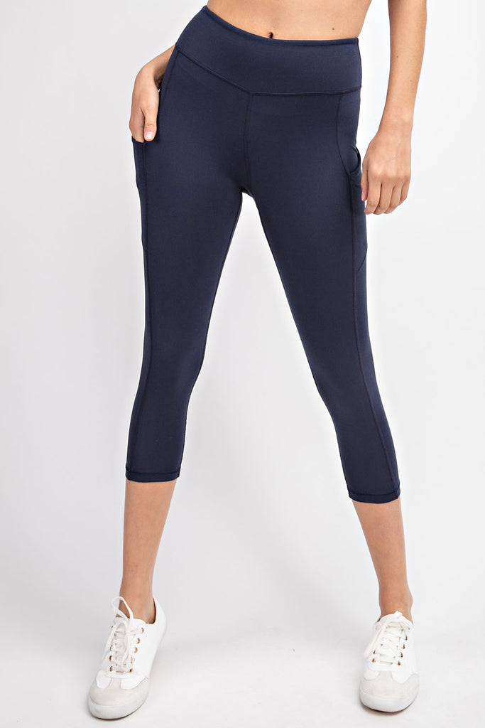 NAVY CAPRIS WITH POCKETS