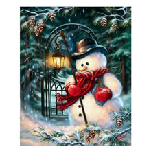 Load image into Gallery viewer, Christmas Snowman DIY Diamond Painting