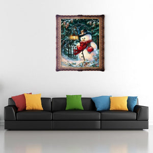Christmas Snowman DIY Diamond Painting