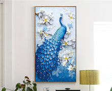 Load image into Gallery viewer, Peacock Full Drill 5D DIY DIY Diamond Painting
