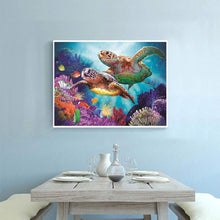 Load image into Gallery viewer, Turtles Sea Diamond DIY Diamond Painting