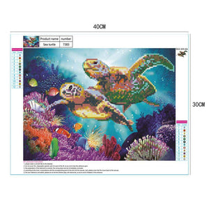 Turtles Sea Diamond DIY Diamond Painting
