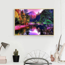 Load image into Gallery viewer, River Landscape 5D DIY Full Drill Diamond Painting
