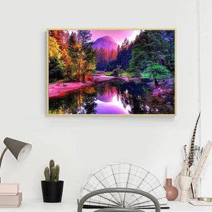 River Landscape 5D DIY Full Drill Diamond Painting