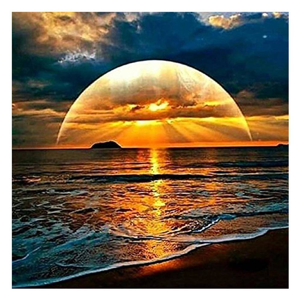 Rising Sun Sea 5D DIY Full Drill Diamond Painting