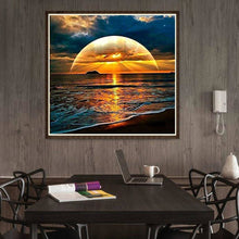 Load image into Gallery viewer, Rising Sun Sea 5D DIY Full Drill Diamond Painting