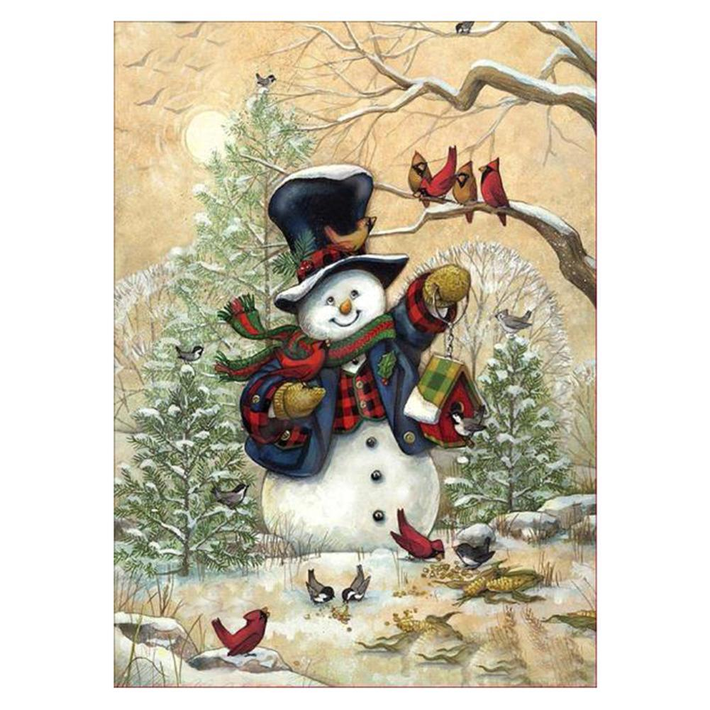 Christmas Snowman 5D DIY Round Drill Diamond Painting