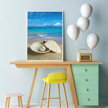 Load image into Gallery viewer, Beach DIY Full Drill Diamond Painting