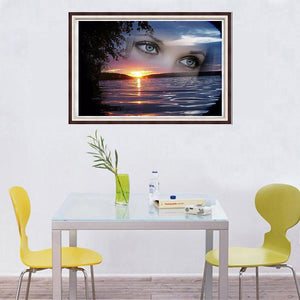 Eyes Sea - Full Diamond Painting