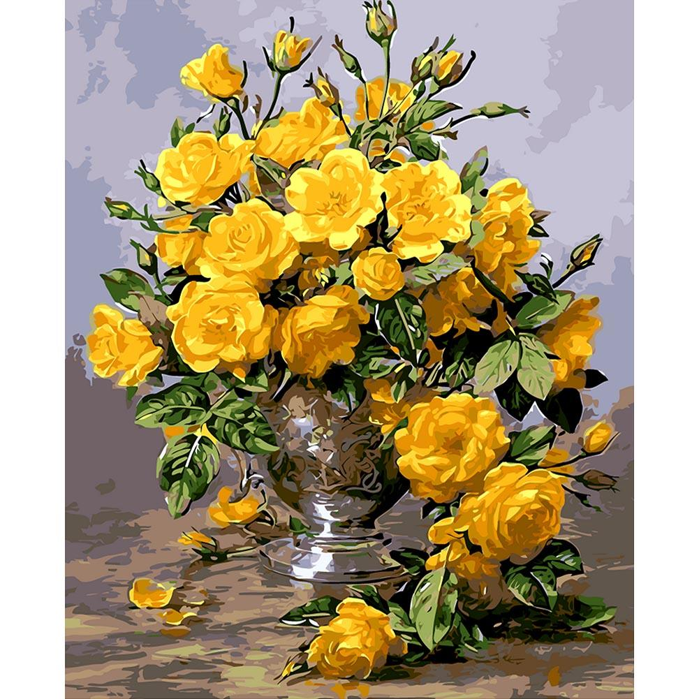 Yellow Rose - Paint by Numbers 40x50cm