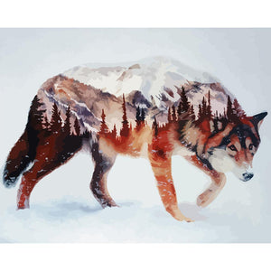 Wolf - Paint by Numbers 40x50cm