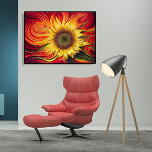 Vortex Sunflower - Paint by Numbers 40x50cm