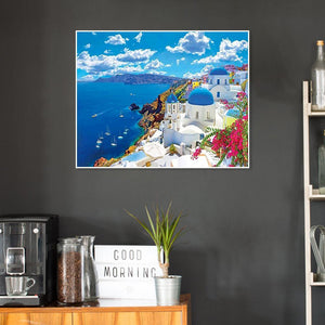 Seaside Castle - Full Diamond Painting