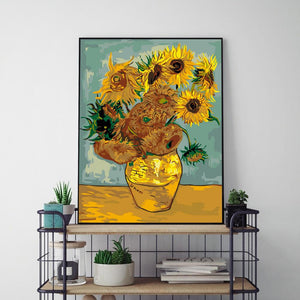 Warm Sunflowers - Paint by Numbers 40x50cm