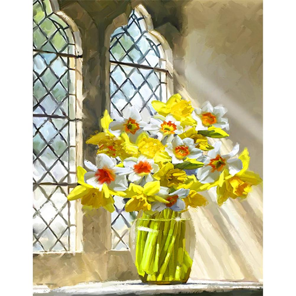 Window Flowers - Paint by Numbers 40x50cm