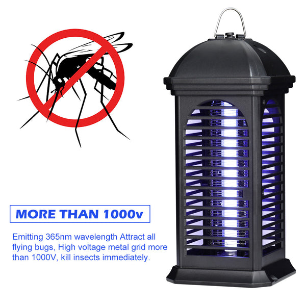 Shinoske Electric Bug Zapper, Powerful Insect Killer, Mosquito Zappers, Mosquito Lamp Trap, Use UV Light Attracts Insects to Grid Kill by 1000V Highvoltage for Indoor, Safe for Human