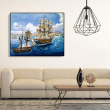 Load image into Gallery viewer, White Sailboat - Paint by Numbers 40x50cm