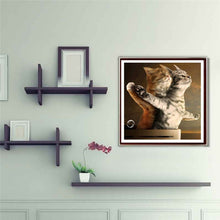 Load image into Gallery viewer, Titanic Jack and Rose Cat 5D DIY Diamond Painting Embroidery Cross Stitch Decorations