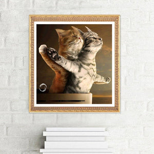 Titanic Jack and Rose Cat 5D DIY Diamond Painting Embroidery Cross Stitch Decorations