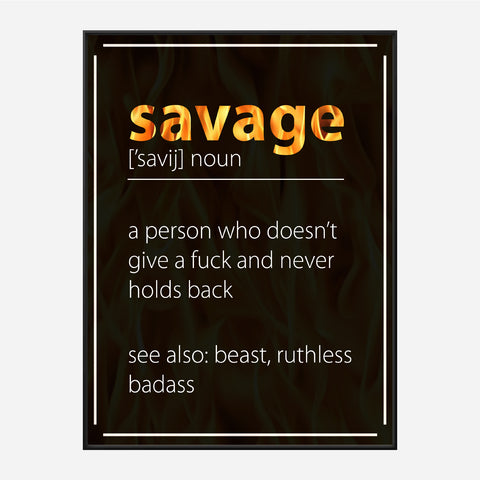 Savage Definition